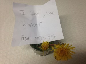 To Mom from Mystery Guy