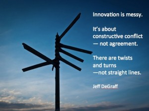 Innovation is messy signpost 2